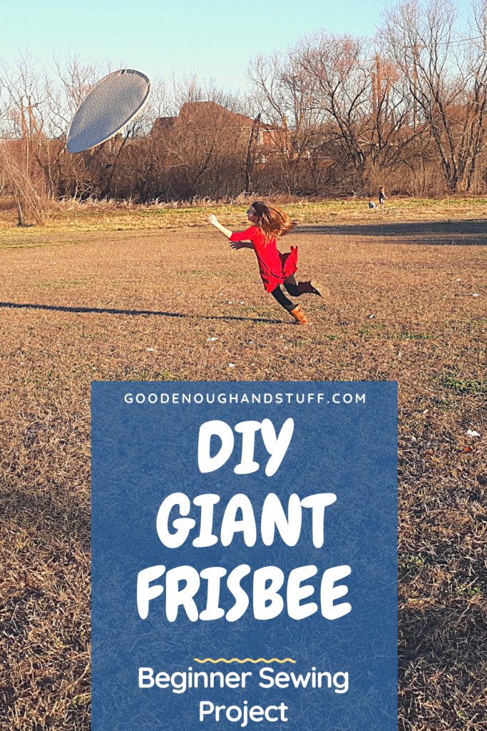 girl leaping for a giant frisbee for a fun family activity