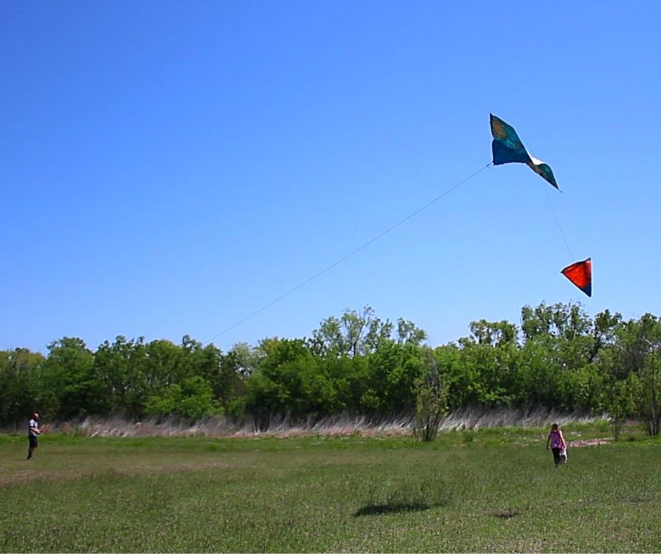 flying a kite on a date