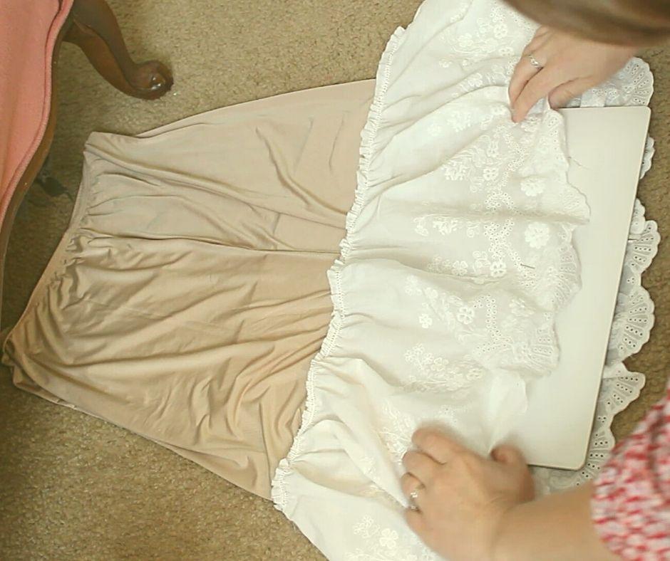 half slip and white lace