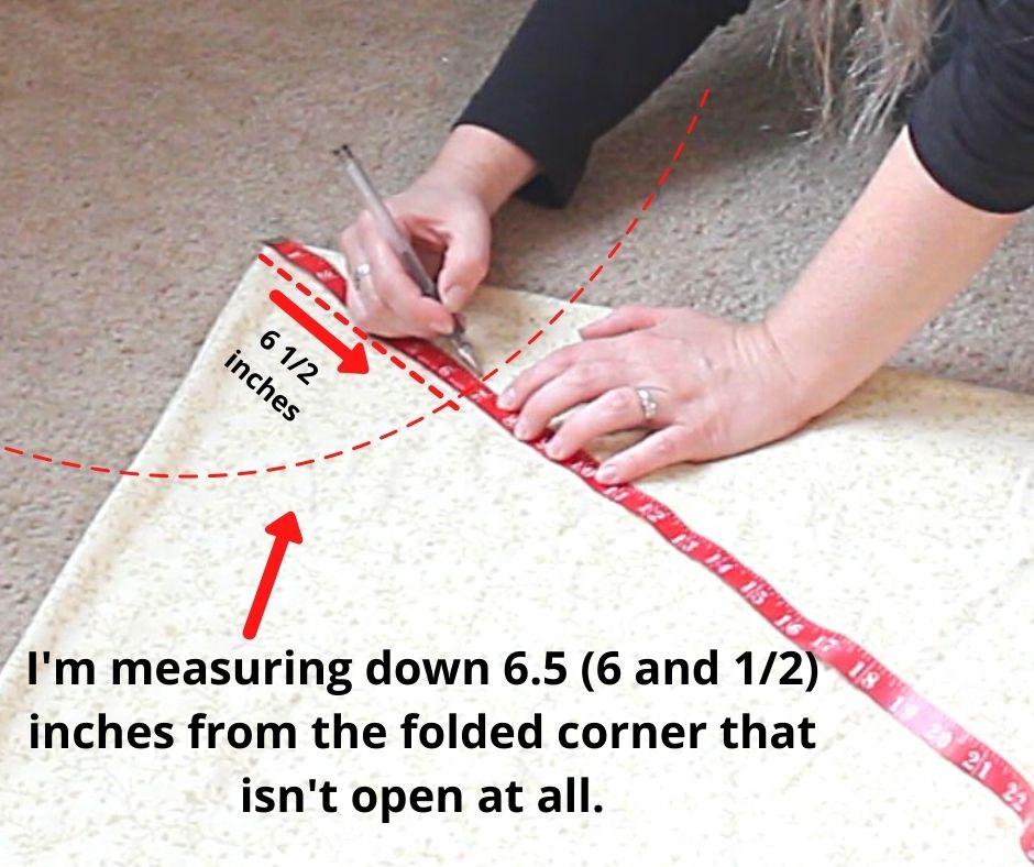 a woman measuring the waist line for a no-zipper skirt