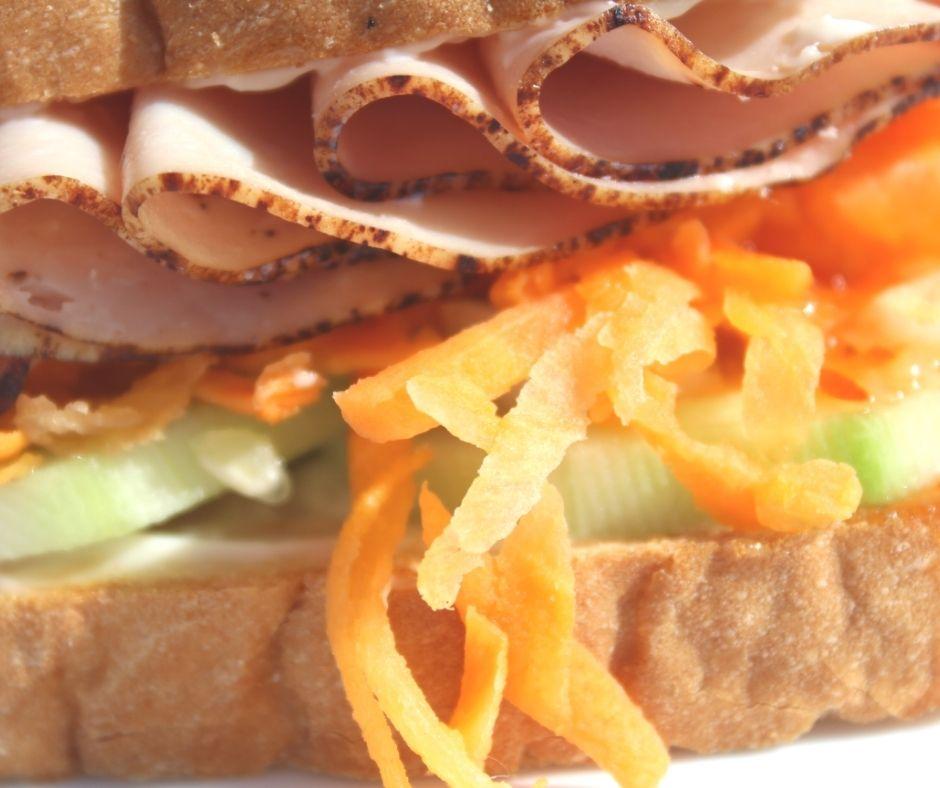 a sandwich idea with a closeup of the sandwich