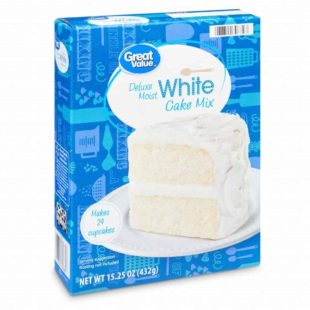 a white cake mix