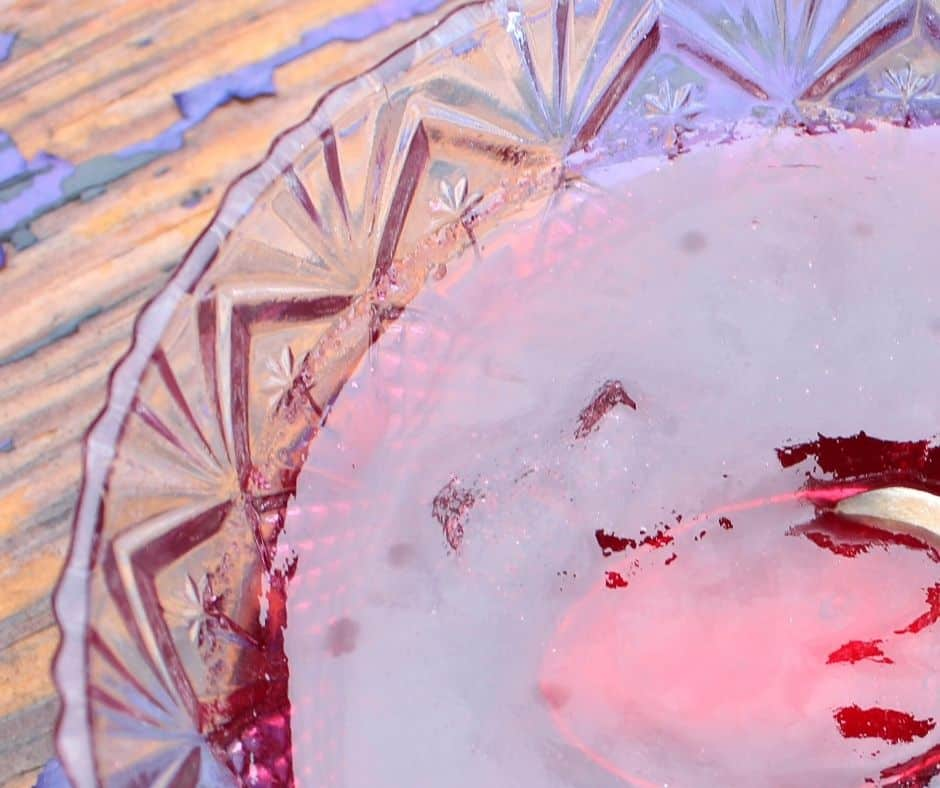 mustang grape jelly in a crystal bowl closeup