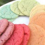 rainbow cookies on a plate